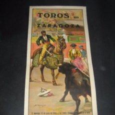 Carteles Toros: CARTEL TOROS FIESTAS PILAR ZARAGOZA 1948. NOVILLADA PICADA. BARTOLOME GUINDA, ENRIQUE ABAD ALEJANDRO. Lote 48841192