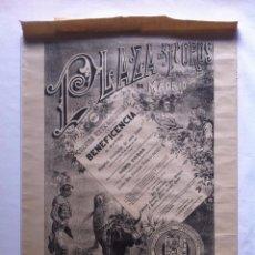Carteles Toros: 1901 CARTEL PAPEL CORRIDA DE TOROS BENEFICENCIA. Lote 49135023