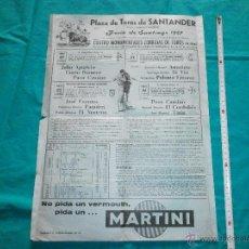 Carteles Toros: ORIGINAL. CARTEL DE TOROS PLAZA SANTANDER AÑO 1967 PAQUIRRI,APARICIO,EL CORDOBES,ANTOÑETE ETC. Lote 49429764