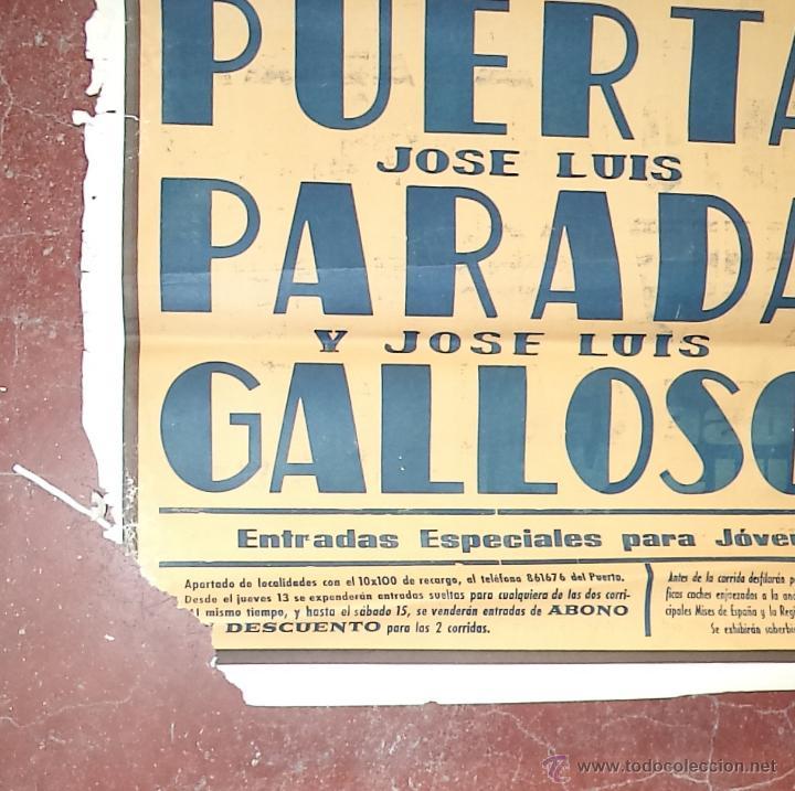Carteles Toros: Enorme Cartel de Toros,Puerto de Santa María,Cádiz,más de dos metros,ideal decoración - Foto 3 - 49539414