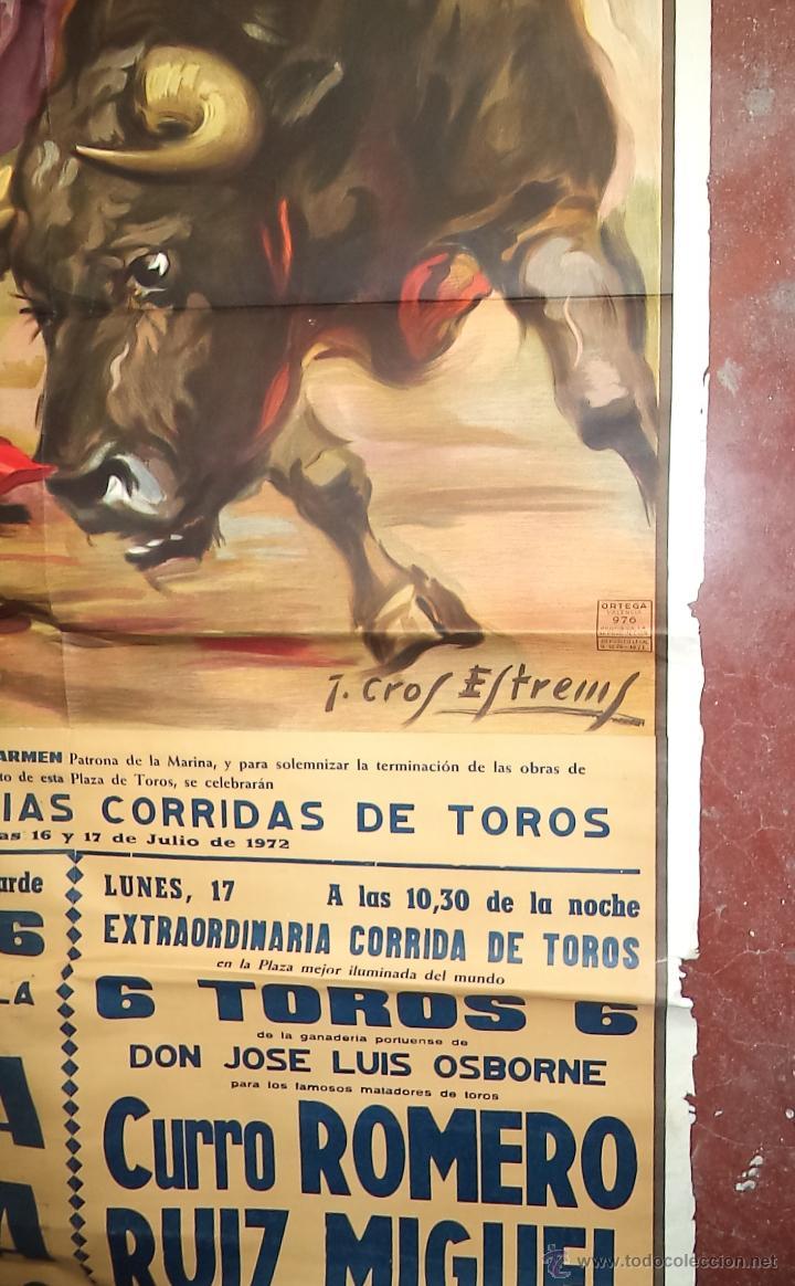 Carteles Toros: Enorme Cartel de Toros,Puerto de Santa María,Cádiz,más de dos metros,ideal decoración - Foto 7 - 49539414