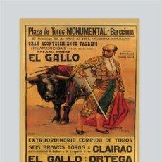 Carteles Toros: AZULEJO 20X30 DE REPRODUCIÓN DE CARTEL TAURINO ANTIGUO.. Lote 49598096