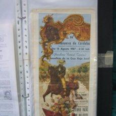 Carteles Toros: CARTEL PLAZA DE TOROS DE CORDOBA 1987.MEDIAS 47X19,5 CM. Lote 49715516