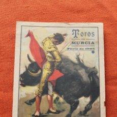 Carteles Toros: TOROS MURCIA FERIA 1935, CON PUBLICIDAD. Lote 49783776