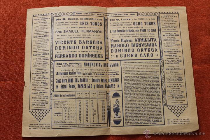 Carteles Toros: TOROS MURCIA FERIA 1935, CON PUBLICIDAD - Foto 3 - 49783776