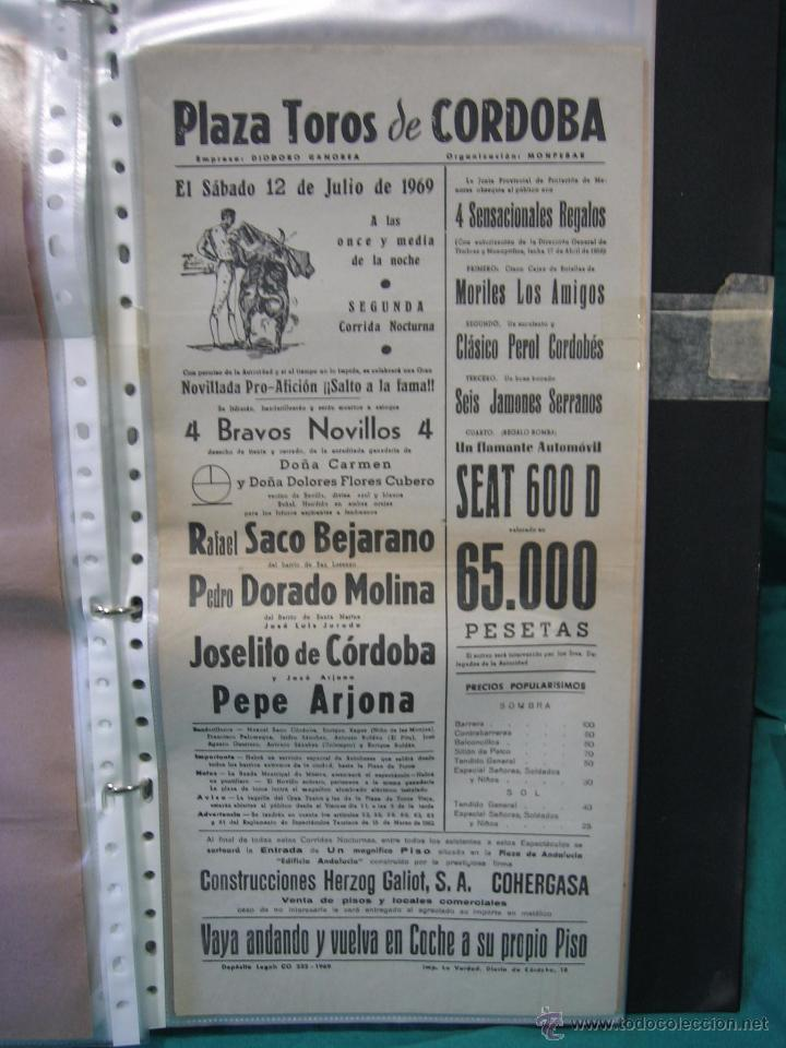 CARTEL PLAZA DE TOROS DE CORDOBA 1969.MEDIDAS 21X43 CM (Coleccionismo - Carteles Gran Formato - Carteles Toros)