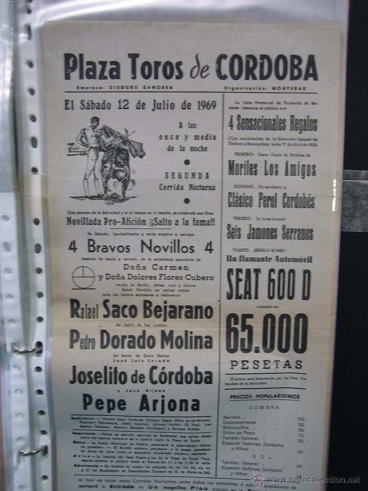Carteles Toros: Cartel plaza de toros de Cordoba 1969.Medidas 21x43 cm - Foto 2 - 49843573