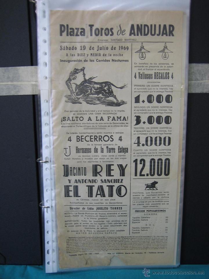 CARTEL PLAZA DE TOROS DE ANDUJAR 1969. MEDIAS 21X43,5 CM (Coleccionismo - Carteles Gran Formato - Carteles Toros)
