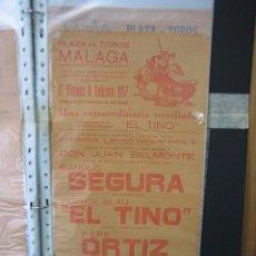 Carteles Toros: CARTEL PLAZA DE TOROS DE MALAGA. MEDIDAS 21X43,5 CM. Lote 49846948