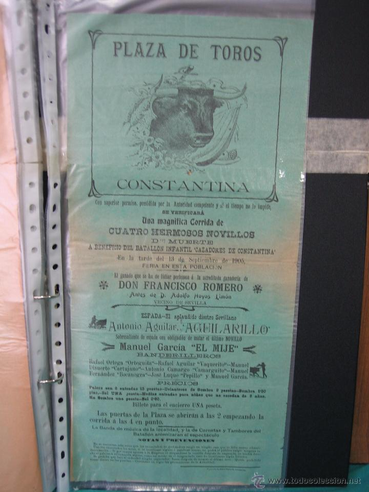 CARTEL PLAZA DE TOROS DE CONSTANTINA 1905.21,5X44,5 CM (Coleccionismo - Carteles Gran Formato - Carteles Toros)