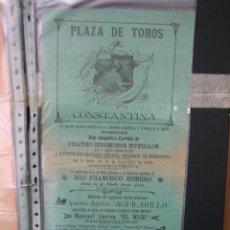 Carteles Toros: CARTEL PLAZA DE TOROS DE CONSTANTINA 1905.21,5X44,5 CM. Lote 49847084