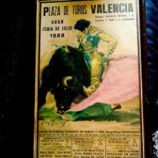 Carteles Toros: CARTEL TAURINO - GRAN FERIA DE JULIO 1988 - PLAZA DE TOROS DE VALENCIA LITOGRAFÍA DE CROS ESTREMS. Lote 97012562