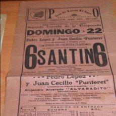 Carteles Toros: CARTEL DE TOROS EL TOREO MEJICO TEMPORADA 1911-12 PEDRO LOPEZ Y JUAN CECILIO PUNTERET. Lote 50102549