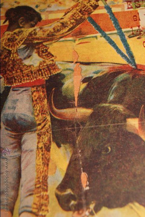 Carteles Toros: CARTEL DE TOROS PLAZA DE TOROS DE SEVILLA CORRIDA DE FERIA 1915 GALLITO Y BELMONTE - Foto 2 - 50103532