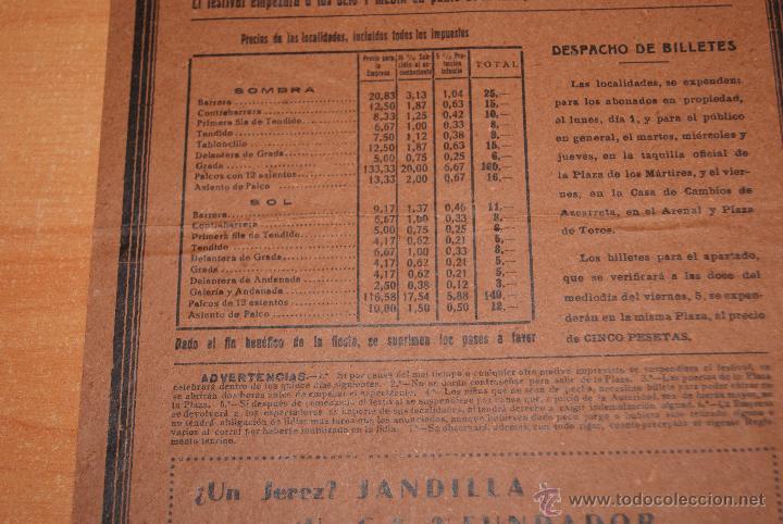 Carteles Toros: CARTEL DE TOROS PLAZA DE TOROS DE VISTA ALEGRE BILBAO 5 JULIO 1940 MANOLETE - Foto 4 - 50103678