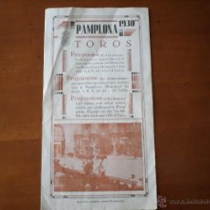 Carteles Toros: PROGRAMA FIESTAS DE PAMPLONA 1930. Lote 50172044