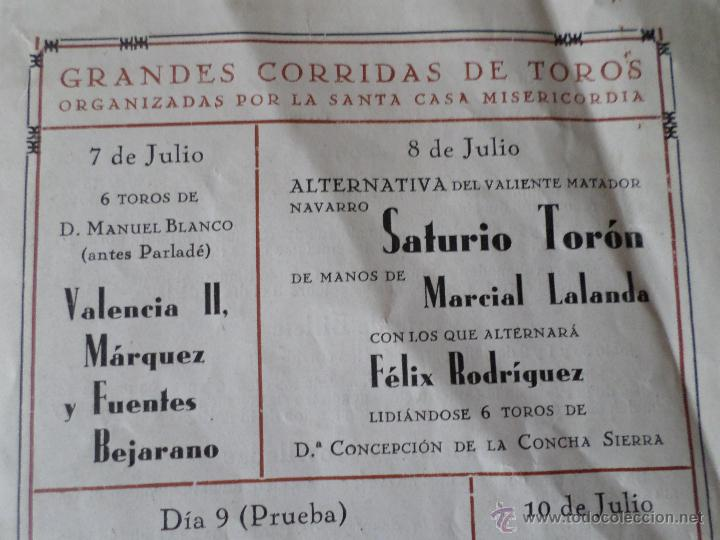 Carteles Toros: PROGRAMA FIESTAS DE PAMPLONA 1930 - Foto 6 - 50172044