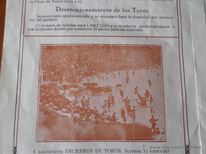 Carteles Toros: PROGRAMA FIESTAS DE PAMPLONA 1930 - Foto 11 - 50172044