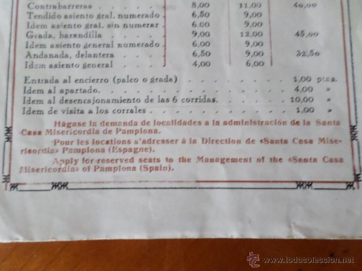 Carteles Toros: PROGRAMA FIESTAS DE PAMPLONA 1930 - Foto 14 - 50172044