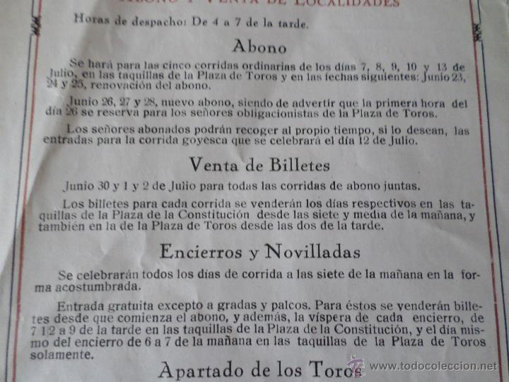 Carteles Toros: PROGRAMA FIESTAS DE PAMPLONA 1930 - Foto 17 - 50172044