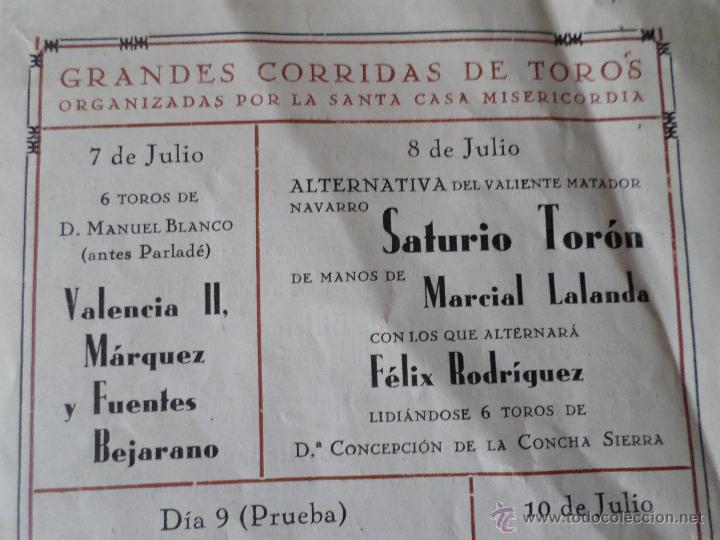 Carteles Toros: PROGRAMA FIESTAS DE PAMPLONA 1930 - Foto 19 - 50172044