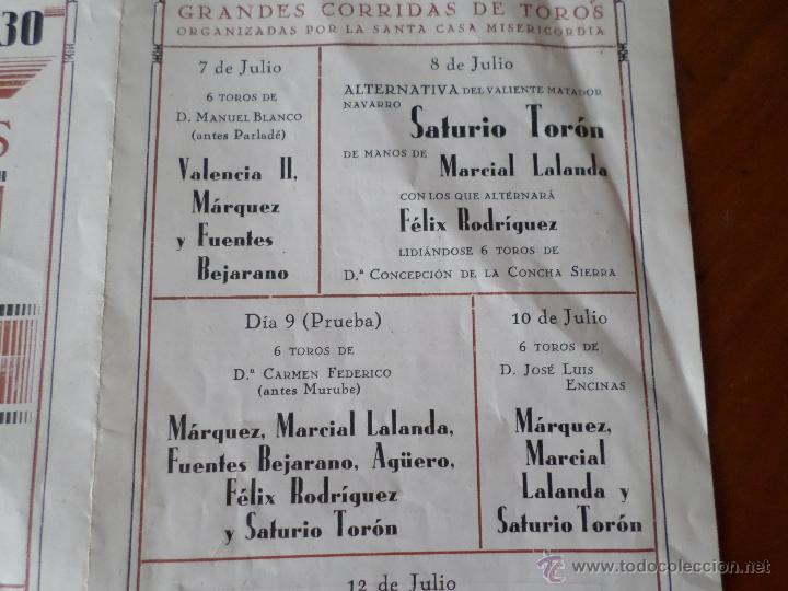 Carteles Toros: PROGRAMA FIESTAS DE PAMPLONA 1930 - Foto 23 - 50172044
