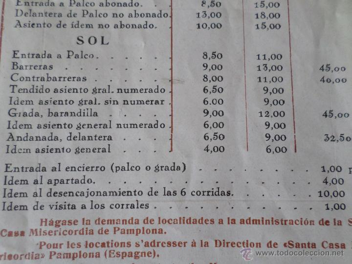 Carteles Toros: PROGRAMA FIESTAS DE PAMPLONA 1930 - Foto 24 - 50172044