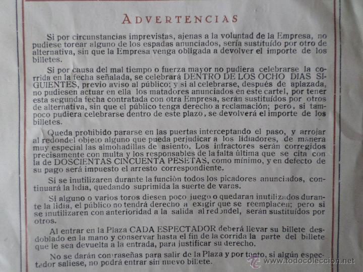 Carteles Toros: PROGRAMA FIESTAS DE PAMPLONA 1930 - Foto 26 - 50172044