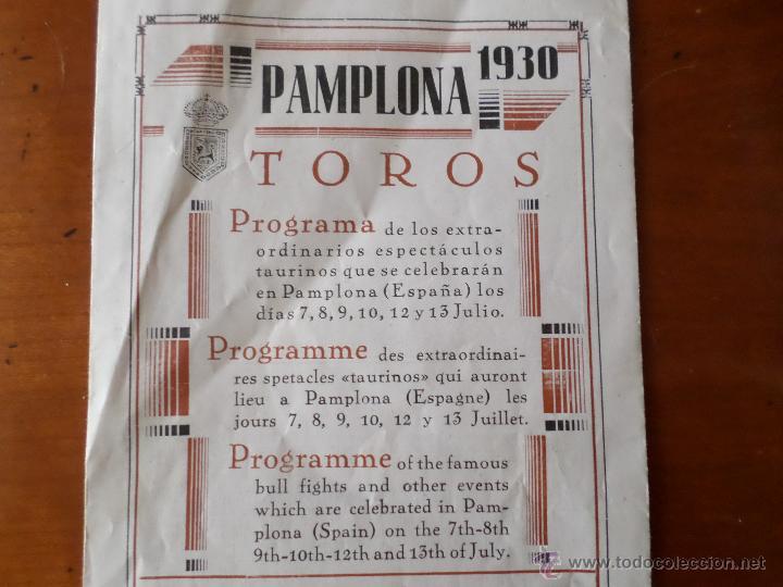 Carteles Toros: PROGRAMA FIESTAS DE PAMPLONA 1930 - Foto 28 - 50172044
