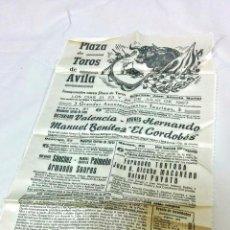 Carteles Toros: CARTEL INAUGURACIÓN PLAZA TOROS ÁVILA - 1967. Lote 50438378