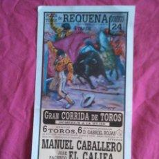 Carteles Toros: REQUENA (VALENCIA): CARTEL DE TOROS DE 1996. Lote 50765255
