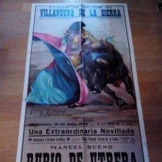 Carteles Toros: CARTEL DE TOROS DE VILLANUEVA DE LA SIERRA 18/07/1973. Lote 51035210