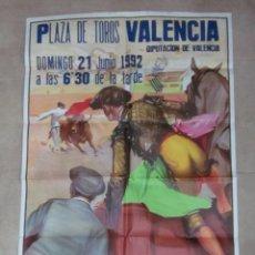 Carteles Toros: CARTEL GRANDE TOROS VALENCIA - AÑO 1992 - LITOGRAFIA - RUANO LLOPIS. Lote 51354641