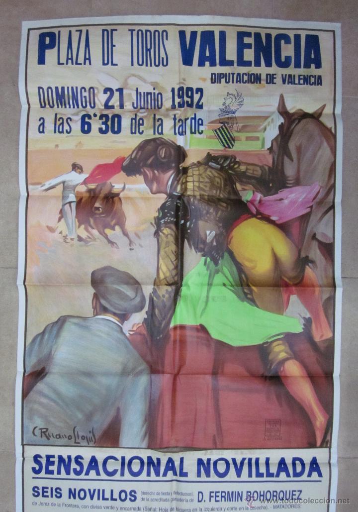 Carteles Toros: CARTEL GRANDE TOROS VALENCIA - AÑO 1992 - LITOGRAFIA - RUANO LLOPIS - Foto 2 - 51354641