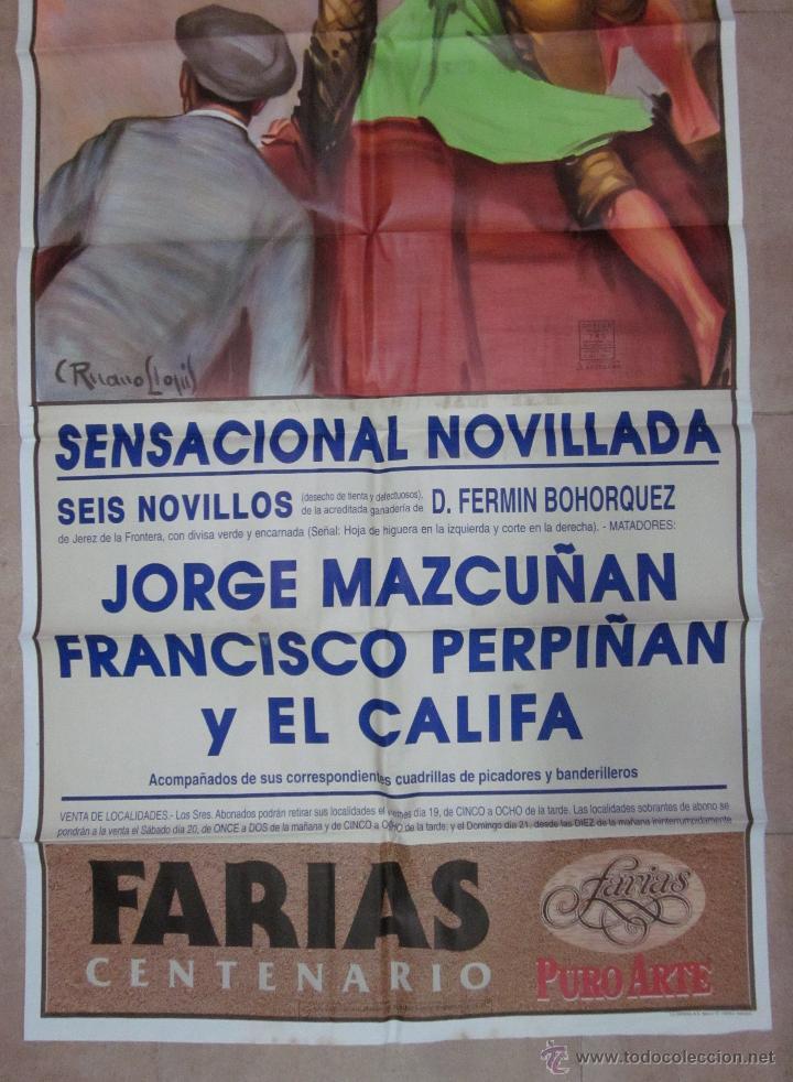 Carteles Toros: CARTEL GRANDE TOROS VALENCIA - AÑO 1992 - LITOGRAFIA - RUANO LLOPIS - Foto 3 - 51354641
