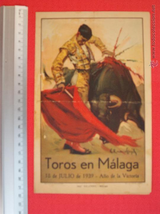 PROGRAMA TAURINO- PLAZA DE TOROS DE MÁLAGA- 18 DE JULIO DE 1939 (Coleccionismo - Carteles Gran Formato - Carteles Toros)