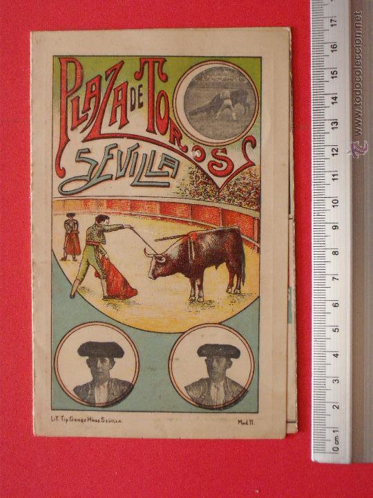 PROGRAMA TAURINO- PLAZA DE TOROS DE SEVILLA -1913 - 31 DE AGOSTO (Coleccionismo - Carteles Gran Formato - Carteles Toros)