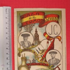 Carteles Toros: PROGRAMA TAURINO- PLAZA DE TOROS DE SEVILLA -1913 - 6 DE JULIO. Lote 51488166