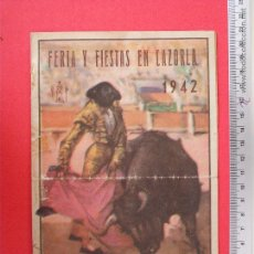 Carteles Toros: PROGRAMA TAURINO- PLAZA DE TOROS DE CAZORLA -1942. Lote 51489523