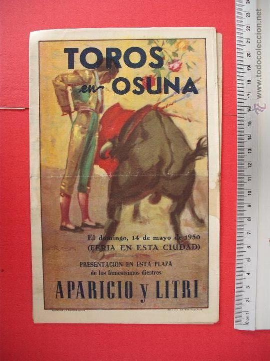 PROGRAMA TAURINO- PLAZA DE TOROS DE OSUNA-1950 (Coleccionismo - Carteles Gran Formato - Carteles Toros)