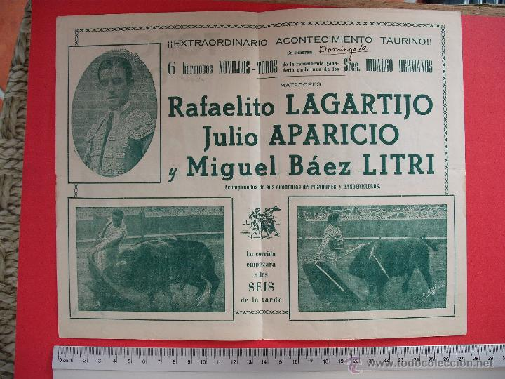 Carteles Toros: PROGRAMA TAURINO- PLAZA DE TOROS DE OSUNA-1950 - Foto 3 - 51490270