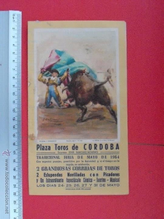 PROGRAMA TAURINO PLAZA DE TOROS DE CORDOBA 1964 (Coleccionismo - Carteles Gran Formato - Carteles Toros)