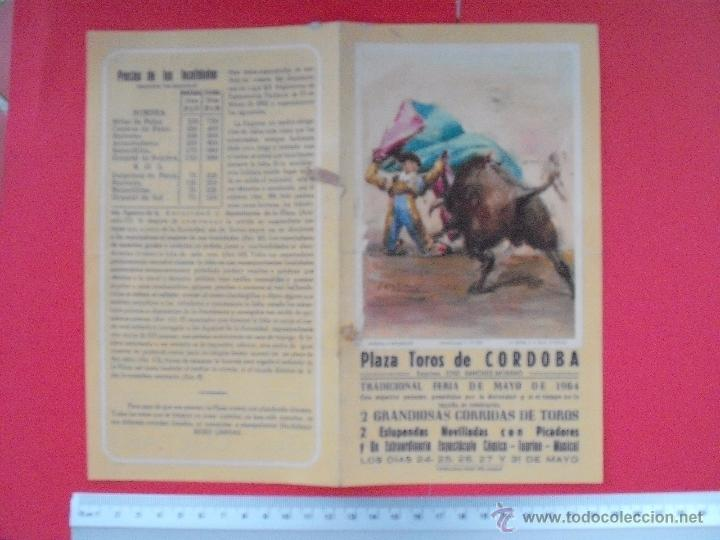 Carteles Toros: PROGRAMA TAURINO PLAZA DE TOROS DE CORDOBA 1964 - Foto 2 - 51497109