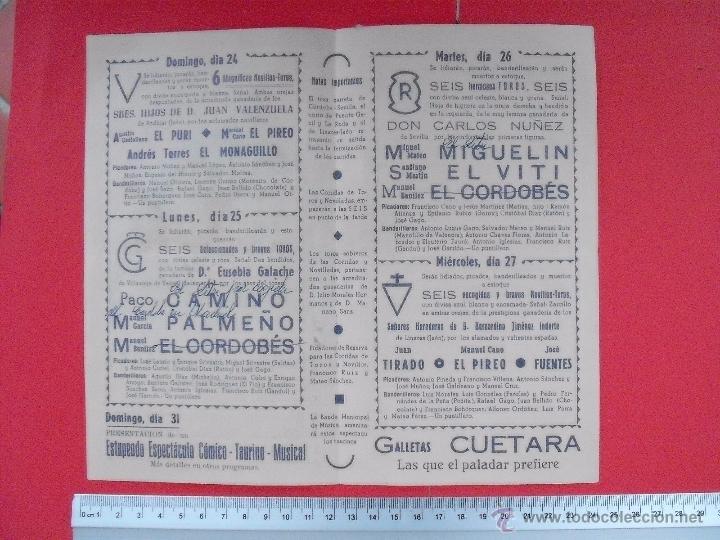 Carteles Toros: PROGRAMA TAURINO PLAZA DE TOROS DE CORDOBA 1964 - Foto 3 - 51497109