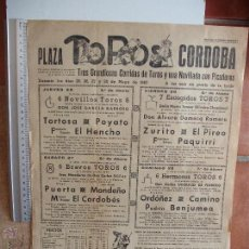 Carteles Toros: CARTELES TOROS : PLAZA DE TOROS DE CORDOBA 1967. Lote 51522290