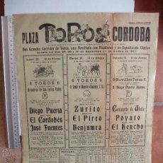 Carteles Toros: CARTELES TOROS : PLAZA DE TOROS DE CORDOBA 1967 SEPTIEMBRE. Lote 51522380