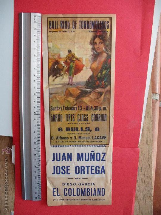 CARTELES TOROS : PLAZA DE TOROS DE TORREMOLINOS 1972 (Coleccionismo - Carteles Gran Formato - Carteles Toros)