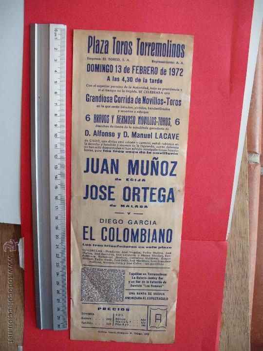 Carteles Toros: CARTELES TOROS : PLAZA DE TOROS DE TORREMOLINOS 1972 - Foto 2 - 51522945