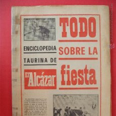Carteles Toros: ENCICLOPEDIA TAURINA EL ALCAZAR. Lote 51537706