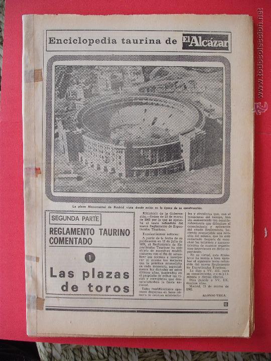 ENCICLOPEDIA TAURINA EL ALCAZAR SEGUNDA PARTE (Coleccionismo - Carteles Gran Formato - Carteles Toros)